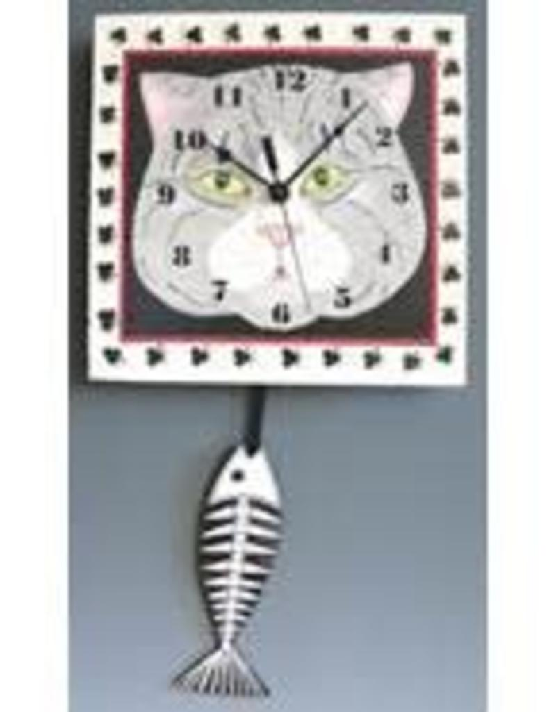 Cat Face Clock