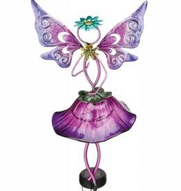 Garden Fairy Stake - Solar Purple
