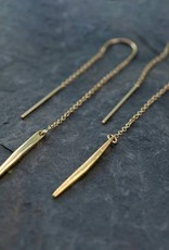 Lariat Earrings - Gold