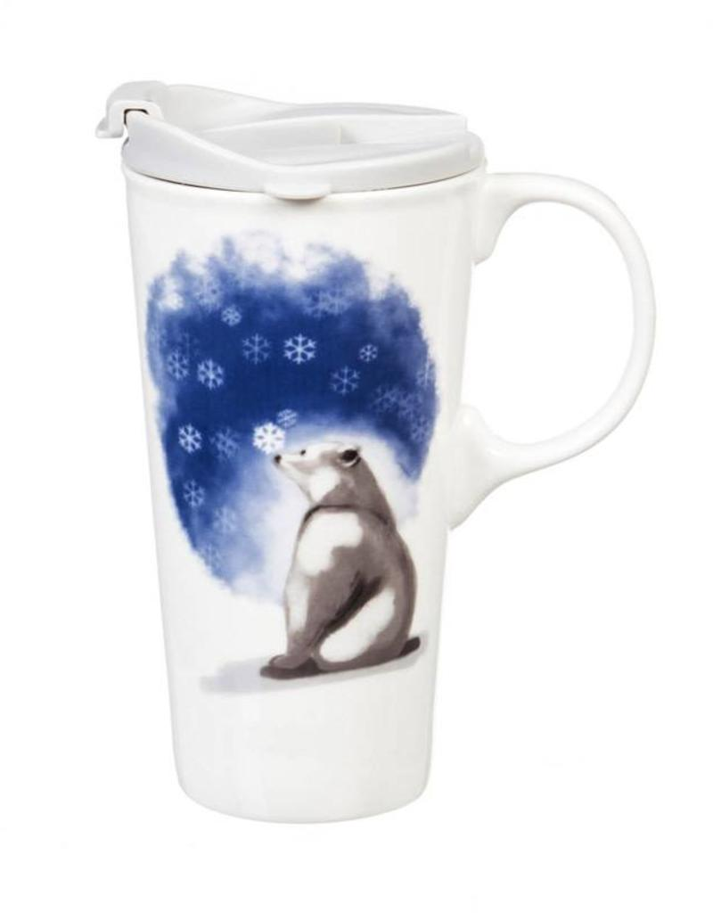 Ceramic Travel Cup - 17 oz - Polar Bear Believe