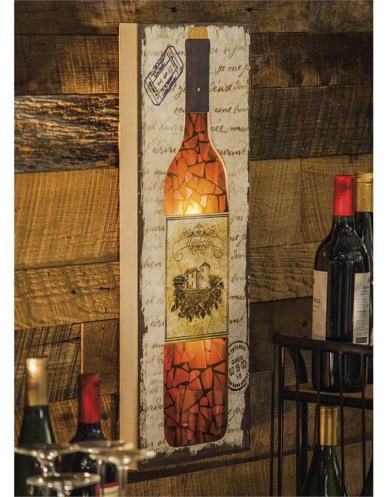 LED Wine Bottle Wall Decor