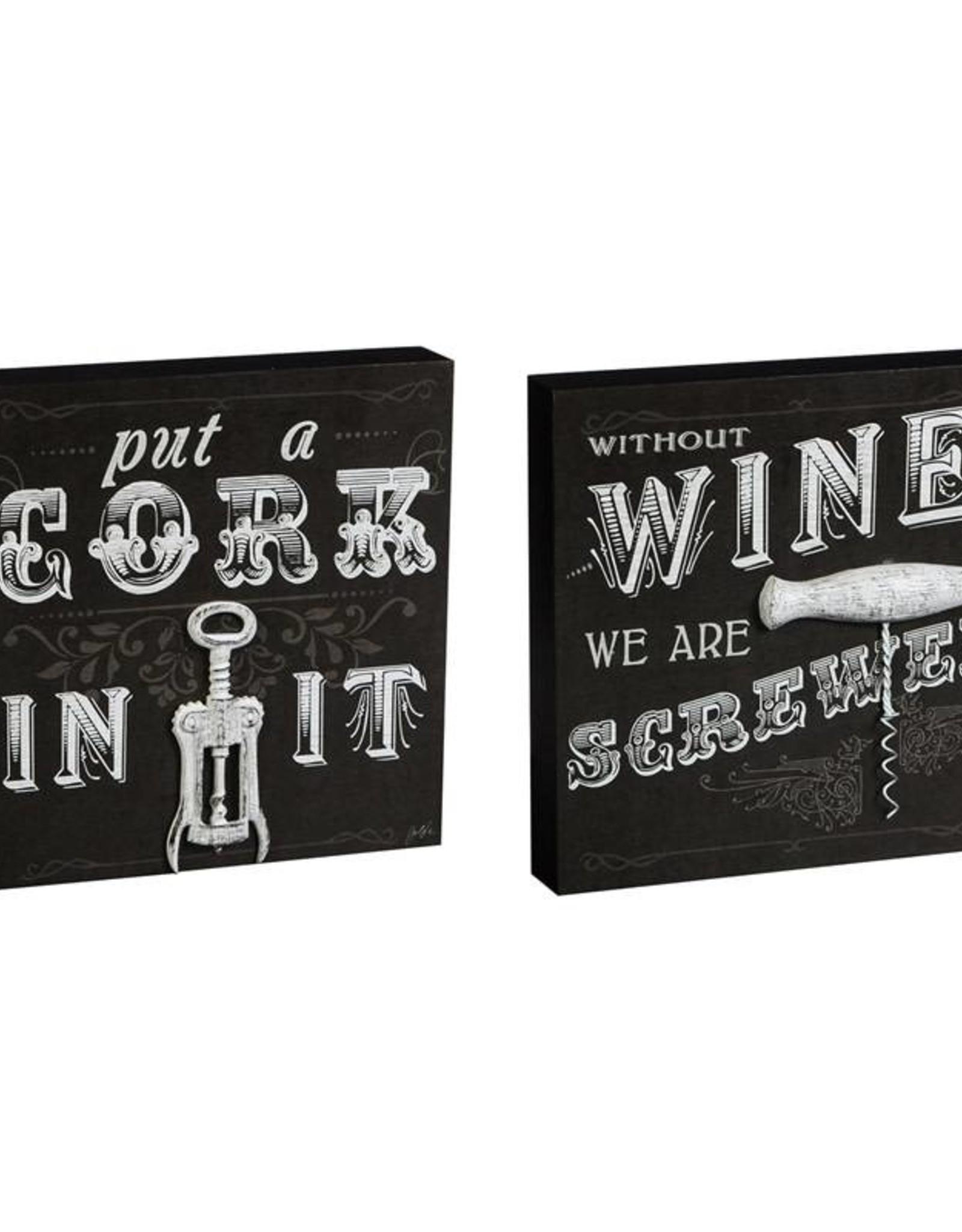 Wine Wooden Plock (12 x 12)