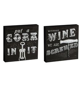 Wine Wooden Plock (12 x 12)