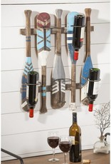 Boat Paddle Wine Bottle Rack