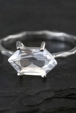 Ring - Crystal Quartz/Silver/US7