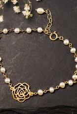 Charm Bracelet - Pearl/Rose/Gold