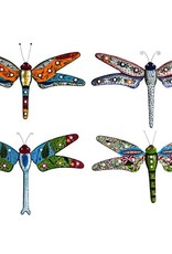 Hand Painted Wall Dragonfly