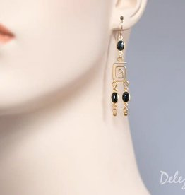 Chandelier Earrings - Sapphire/Gold