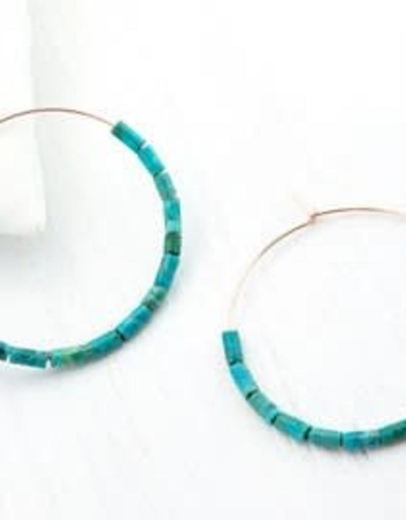 Hoop Earrings - Turquoise/Silver