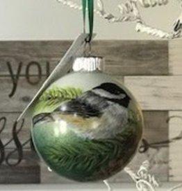 Hand Painted Ornament - Chickadee