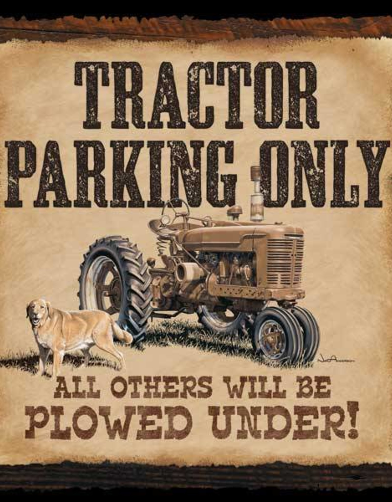 Tractor Parking Only - Box Sign