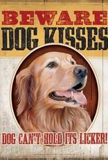 Dog Kisses Tin Sign