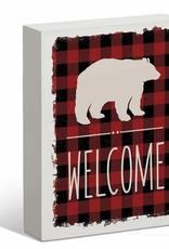 Welcome Bear Sign - 7x9'' Box Art