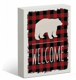 Welcome Bear Sign - 7x9'' Box Art