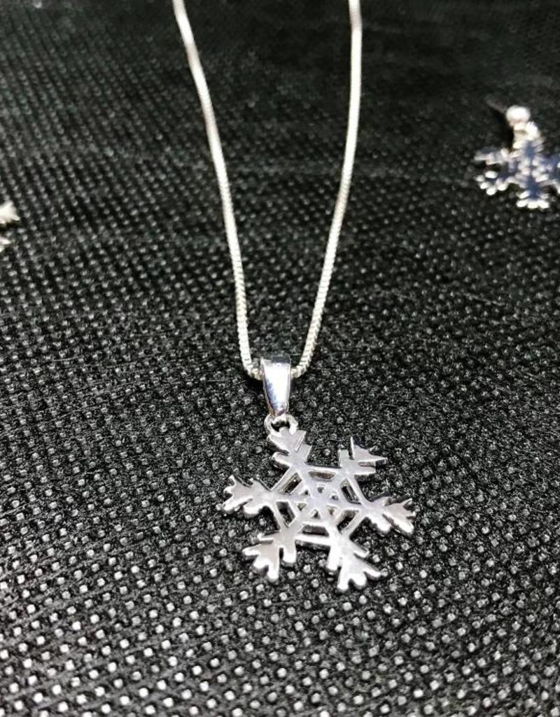 Snowflake Set - Sterling Silver
