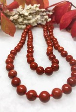 Beaded Necklace - Red Jasper