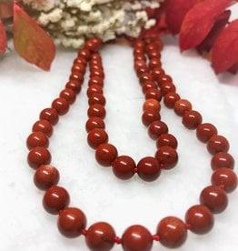 Beaded Necklace - Red Jasper