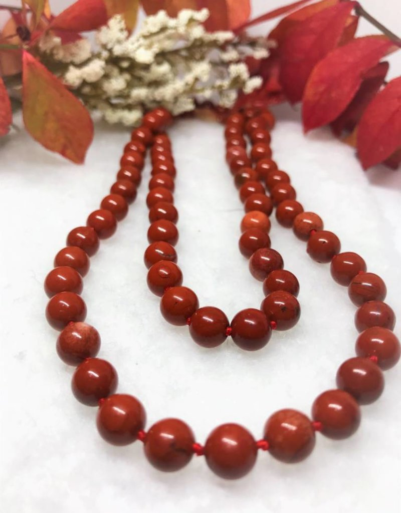 Fred Lawrence Beaded Necklace - Red Jasper