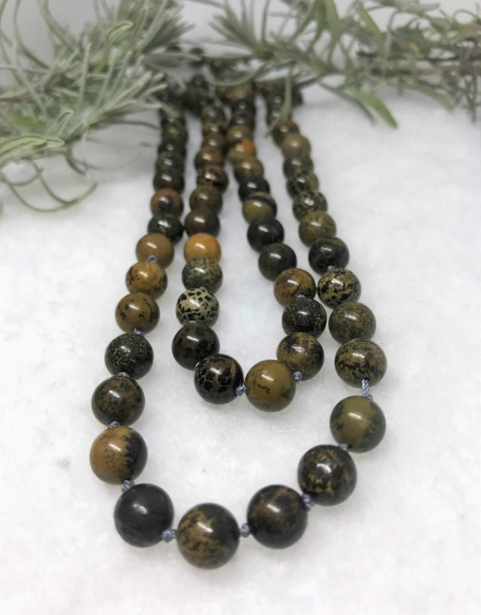 Beaded Necklace - Paintbrush Jasper