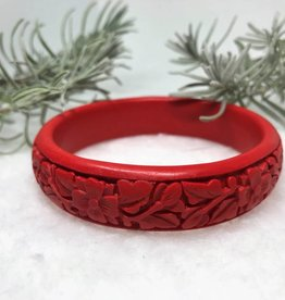 Bracelet - Carved Cinnabar Bangle