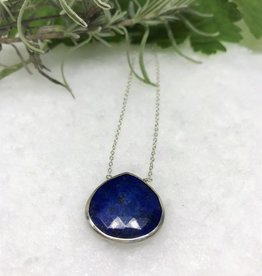 Pendant Necklace - Lapis/Silver