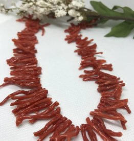 Necklace - Italian Red Coral Branch