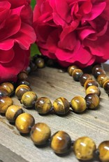 Fred Lawrence Beaded Necklace - Tiger's Eye