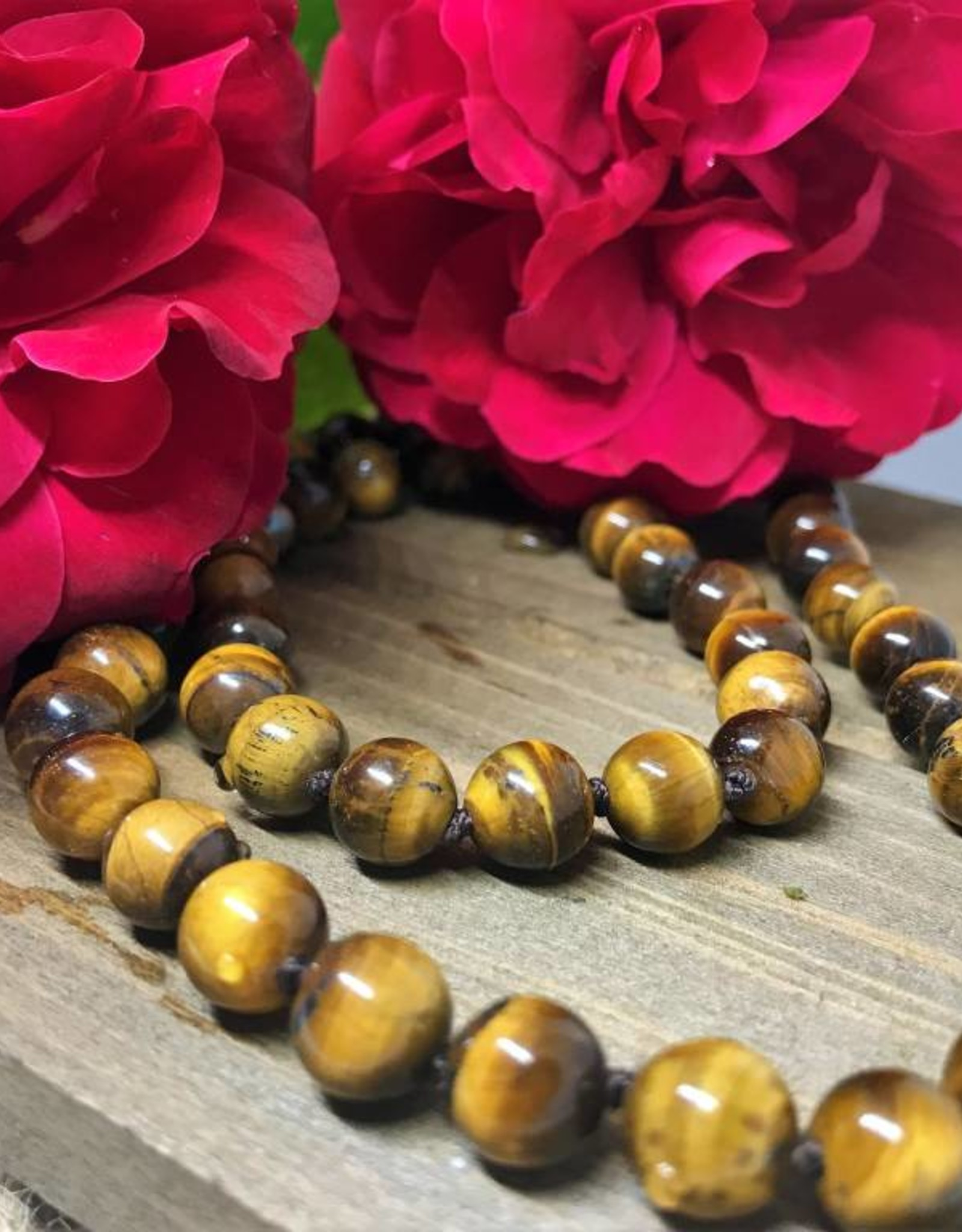 Beaded Necklace - Tiger's Eye