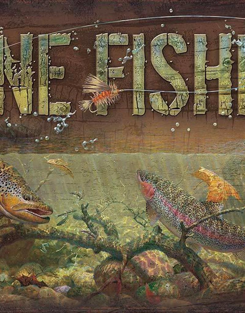 Gone Fishing - Trout Sign
