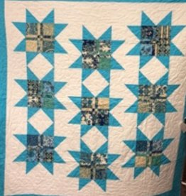Blue Beauty Stars Quilt