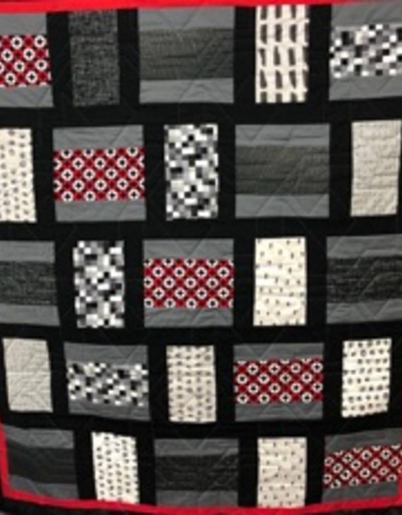 Black/Red/Gray Quilt