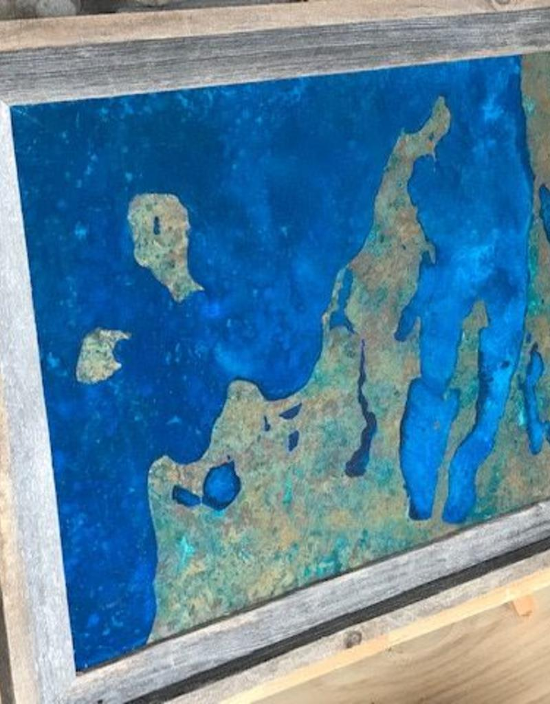 Leelanau Copper Art - No Patina 11 x 14