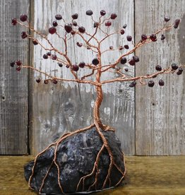Larry Walma Copper Trees Copper Tree with Red Garnet