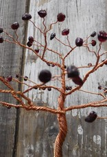 Copper Tree with Red Garnet Buds