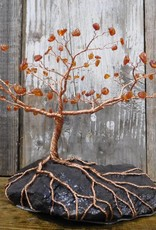 Copper Tree with Amber Buds