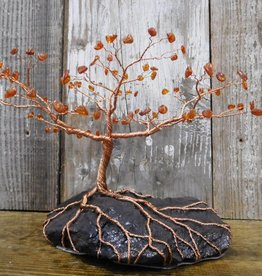 Larry Walma Copper Trees Copper Tree - Amber on Taconite