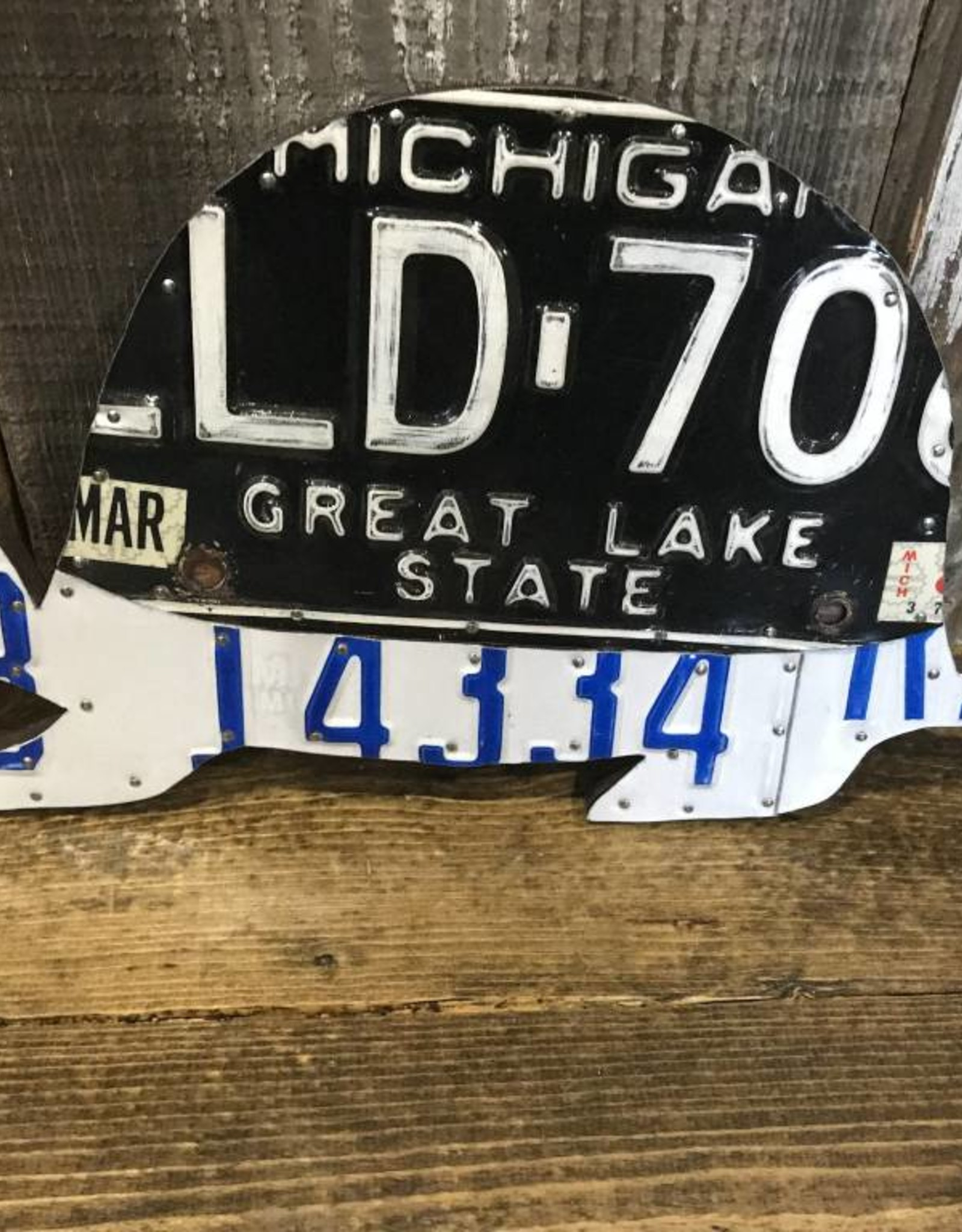 License Plate Art - Turtle