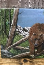 Ron Wetzel Art Handpainted Tile - Bear