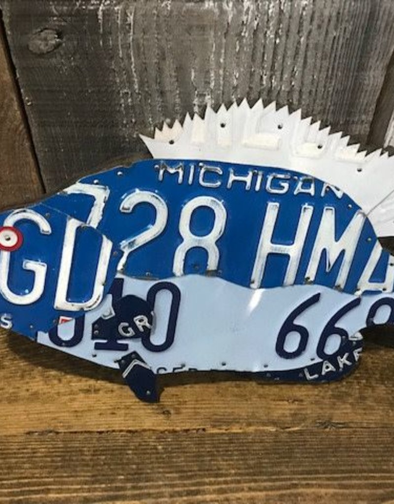 Found Art License Plate Art - Crappie
