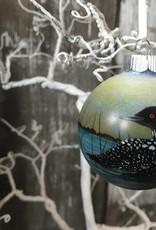 Handpainted Ornament - Loons Coasting