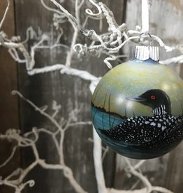 Handpainted Ornament - Loons Coasting