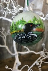 Handpainted Ornament - Loon Duo & Flight