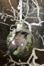 Handpainted Ornament - Cedar Waxwing