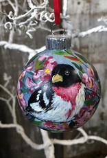 Handpainted Ornament - Rose-Breasted Grosbeak