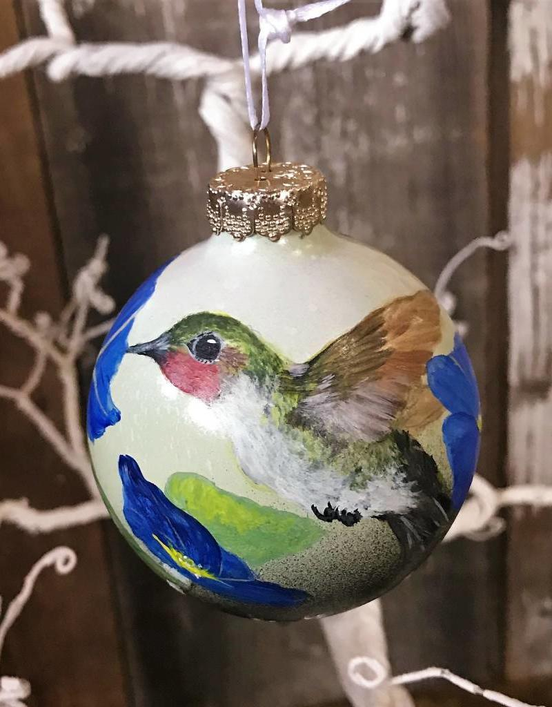 Handpainted Ornament - Hummingbird