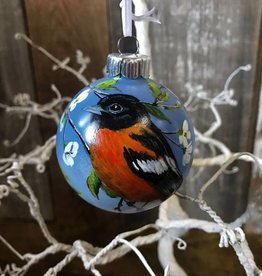 Handpainted Ornament - Black-Headed Grosbeak