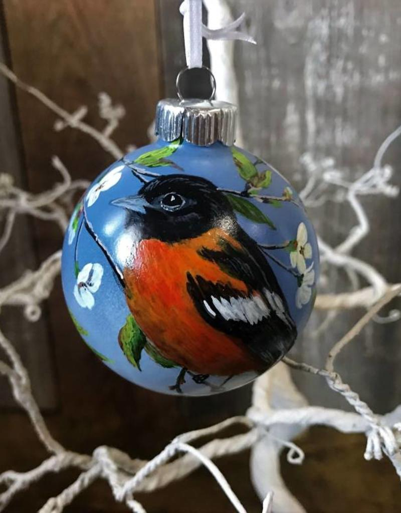 Handpainted Ornament - Black-Headed Grosbeak