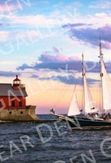 "Nick Irwin Images Grand Haven Pier - 5"" x 7"" Matted Print"