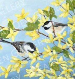 Ron Wetzel Art Spring Chickadees - 8x10 Print