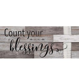 "Count Your Blessings 12"" x 30"" Wood Sign"